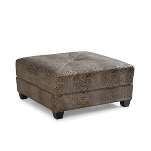 Montgomery Cocktail Leather Ottoman by Palatial Furniture