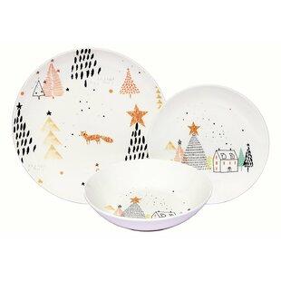 Kegler Winter Fox Coupe 36 Piece Dinnerware Set Service for 12 (Set of 12)  sc 1 st  Wayfair & 12 Person Dinnerware Sets You\u0027ll Love