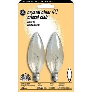 40w 120 Volt 2500k Light Bulb Pack Of 2