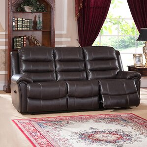 Astoria Leather Reclining Sofa by Amax