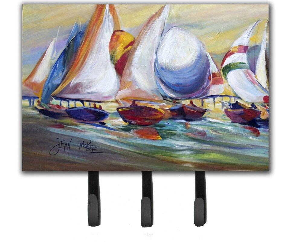 Carolines Treasures Sailboat Race In Dauphin Island Leash Holder