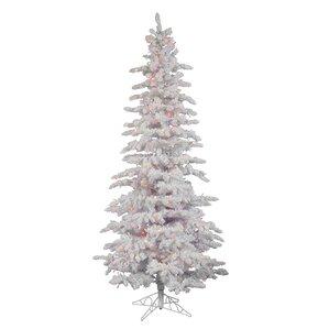PE (Polyethylene) Trees Flocked Christmas Trees You'll Love | Wayfair