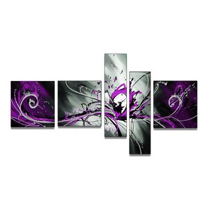 'Abstract Splash' 5 Piece Painting on Canvas Set