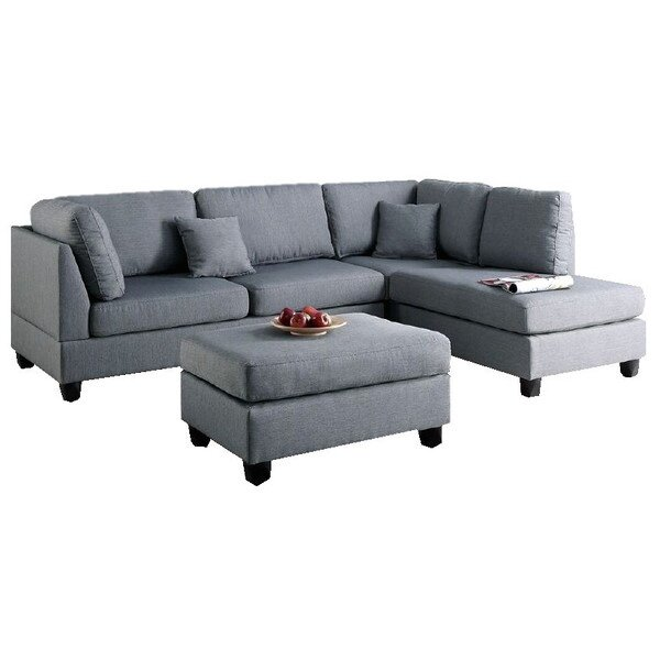 Bibler Reversible Sectional With Ottoman