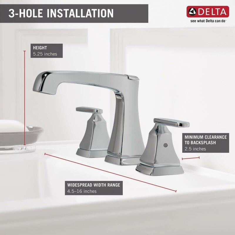 Delta Ashlyn Mini Widespread Double Handle Bathroom Faucet