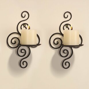 Genial Iron Wall Sconce Candle Holder (Set Of 2)
