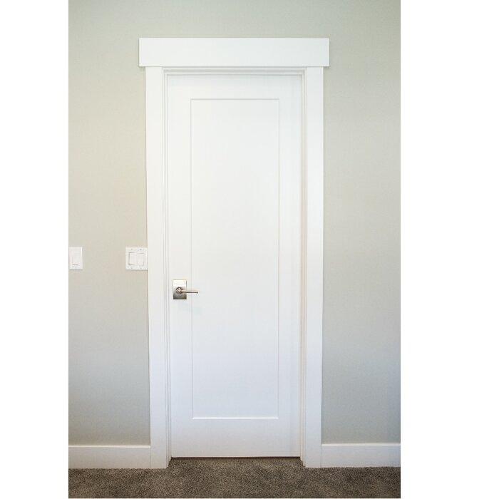 Merveilleux Paneled Solid Manufactured Wood Primed Shaker One Panel Slab Door