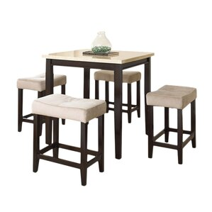 Superb Covedale 5 Piece Counter Height Dining Set