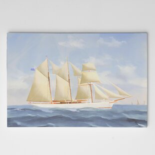 9bed251cb0ce 'Racing Ketch' Oil Painting Print on Wrapped Canvas