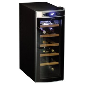 12 Bottle Single Zone Freestanding Wine Cooler by Koolatron