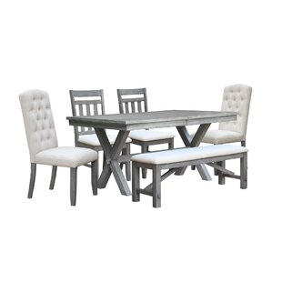 Sawyer 6 Piece Extendable Dining Set