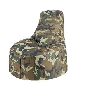 Aurore Kids Durable Camo Bean Bag Chair For Freeport Park