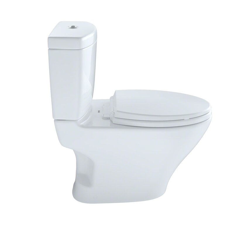 Toto Aquia Dual-Flush Elongated Two-Piece Toilet (Seat Not Included ...