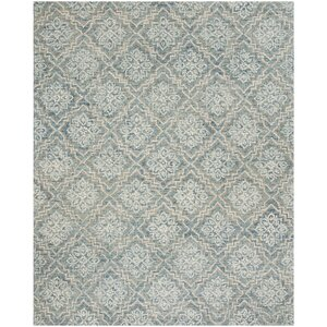 Salerna Hand-Tufted Wool Blue/Gray Area Rug