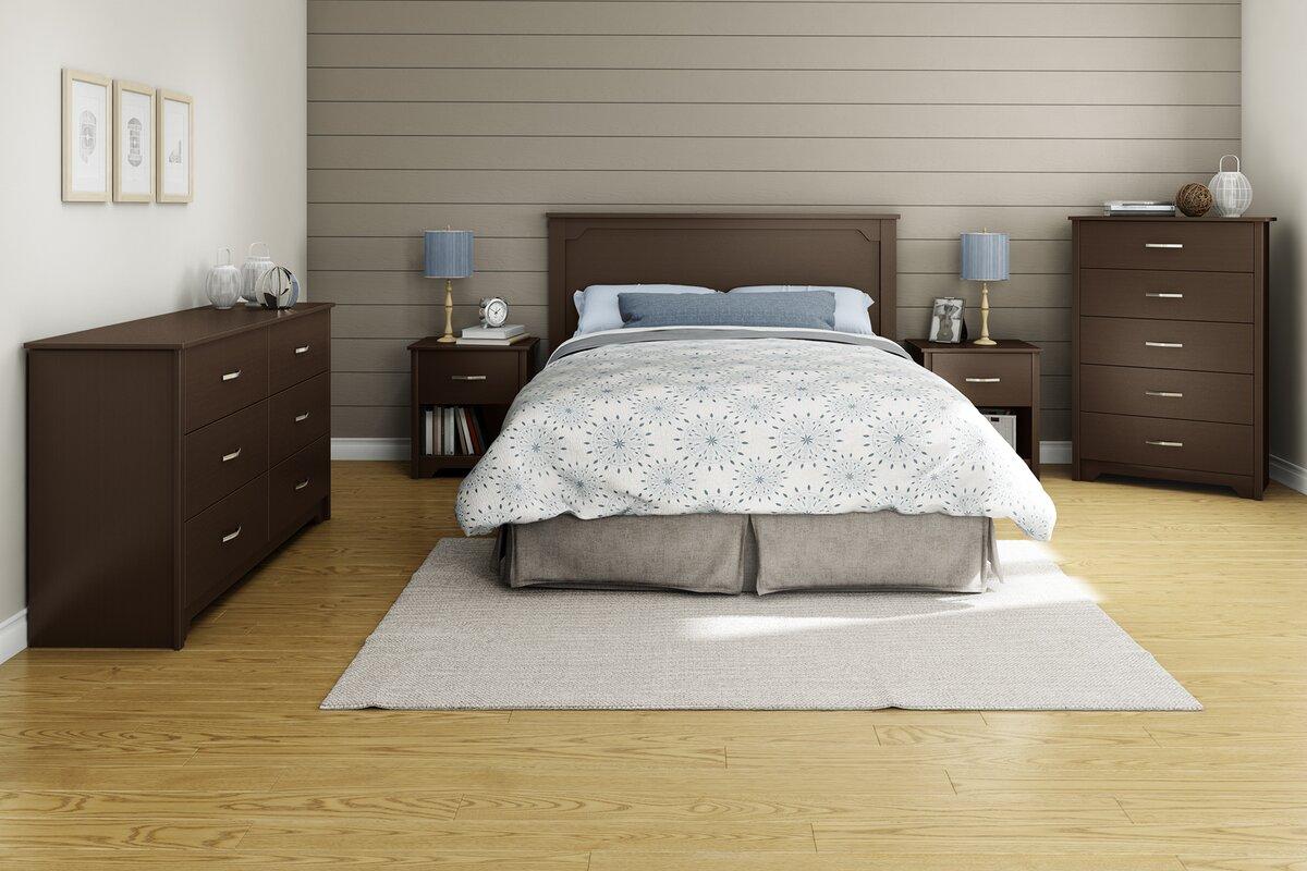 south shore fusion panel headboard reviews wayfair. Black Bedroom Furniture Sets. Home Design Ideas