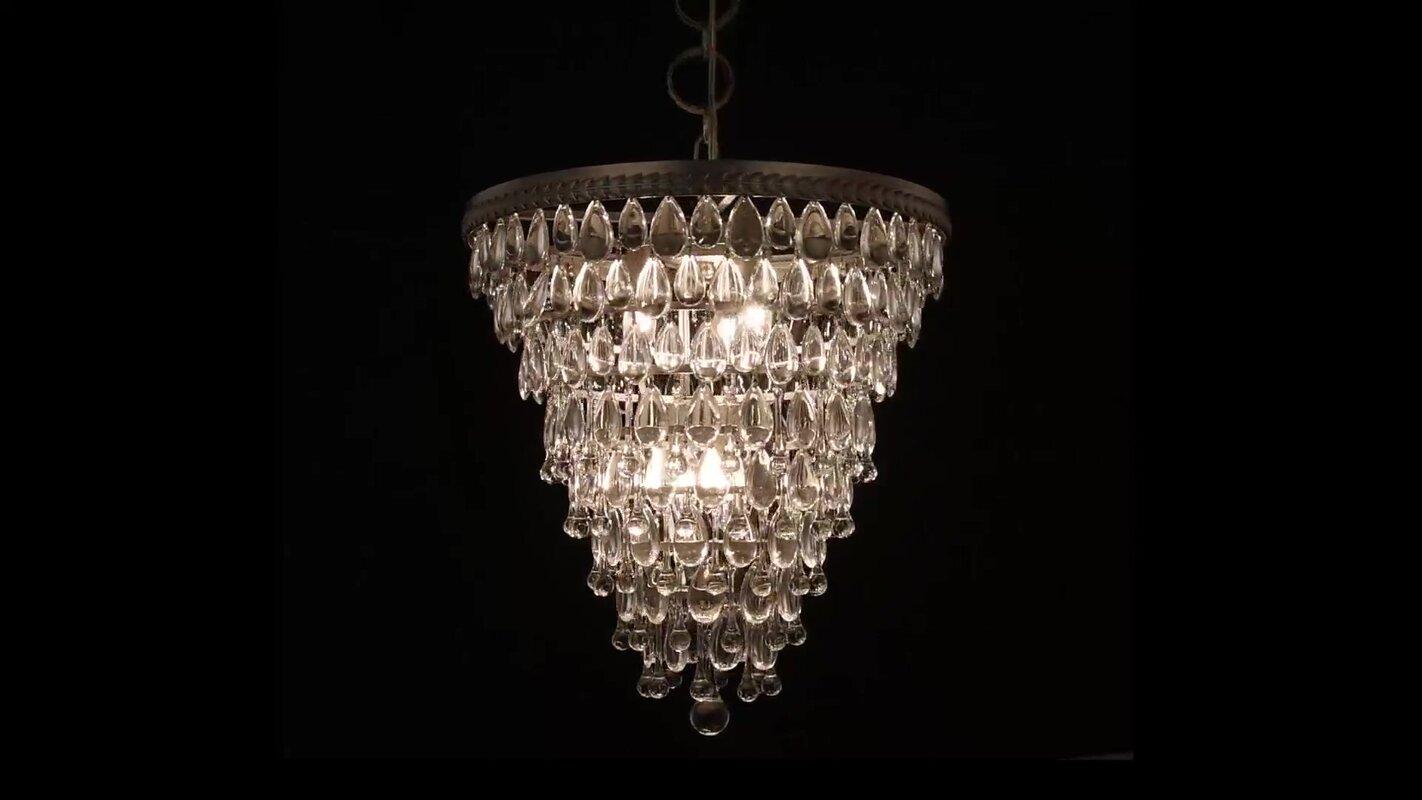 Esmeraude 3 light crystal chandelier reviews joss main esmeraude 3 light crystal chandelier aloadofball Images