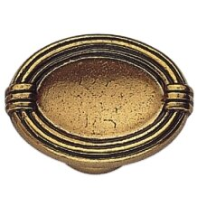 French Antique Oval Knob