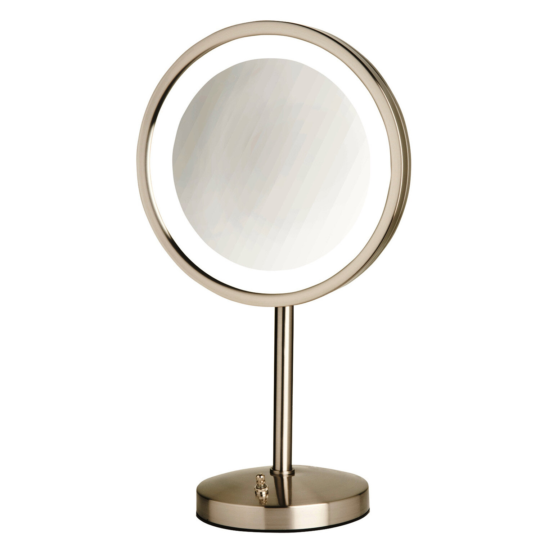 Jerdon 95 Led Lighted Table Top Mirror Wayfair