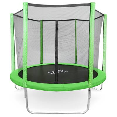 Dura-Bounce 8' Round Trampoline with Safety Enclosure - Upper Bounce 7.5' Round Trampoline With Safety Enclosure & Reviews