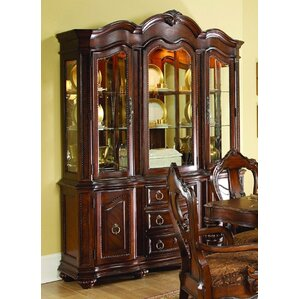 Ellsworth Lighted China Cabinet by Astoria Grand
