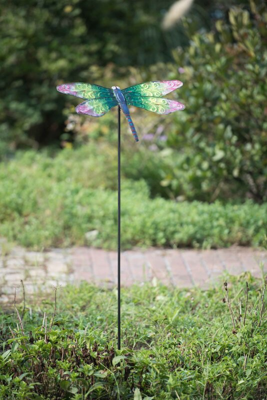Metal Dragonfly Garden Stake