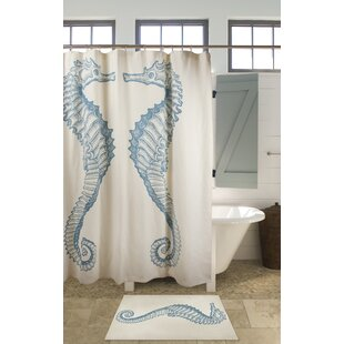 Seahorse Cotton Shower Curtain