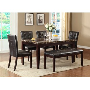 Meaux 6 Piece Solid Wood Dining Set