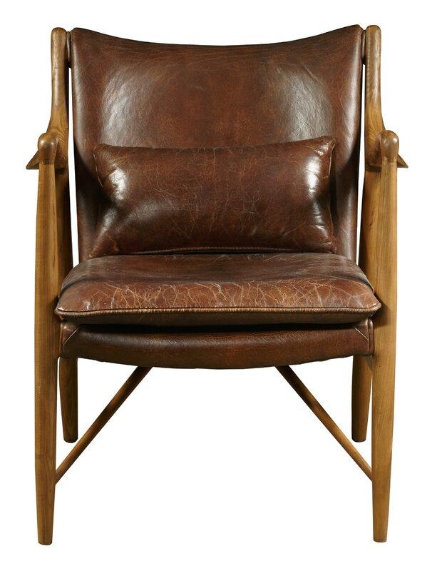 Harmony Leather Armchair Amp Reviews Allmodern