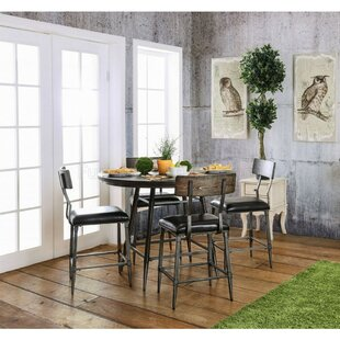 Martinez Industrial Style 5 Piece Counter Height Dining Set