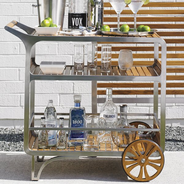 Tommy Bahama Outdoor Tres Chic Mobile Bar Cart | Wayfair