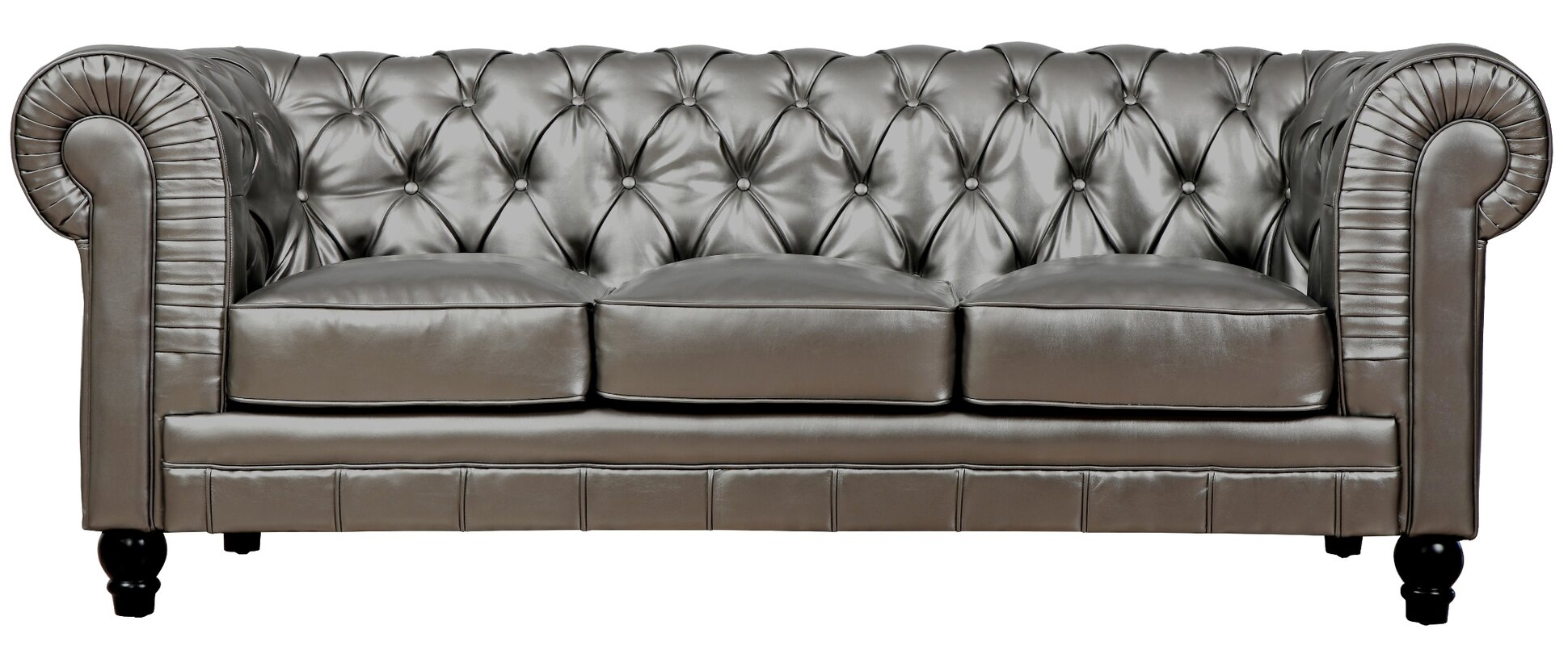 "Mason 83"" Leather Chesterfield Sofa & Reviews"
