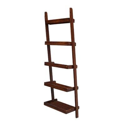 Brayden Studio Marinez Ladder Bookcase Color: Espresso