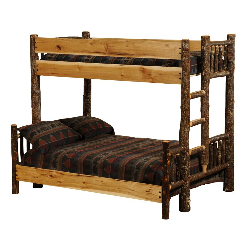 Fireside Lodgehickory Twin Over Queen Bunk Bed