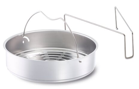 Fissler USA Vitaquick Perforated Pressure Cooker Insert with Tripod