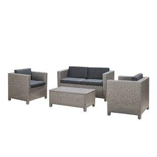 modern contemporary gray wicker patio furniture allmodern rh allmodern com  gray wicker patio table