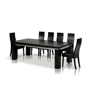 Black Extendable Dining Table black lacquer dining table | wayfair