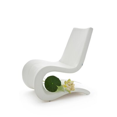 B&T Design Flow Eco Leather Lounge Chair Finish: White