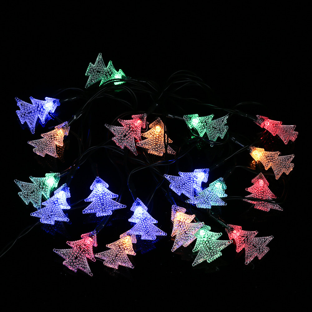winsomehouse solar outdoor christmas tree led 20 light string lighting wayfair - Solar Christmas Tree