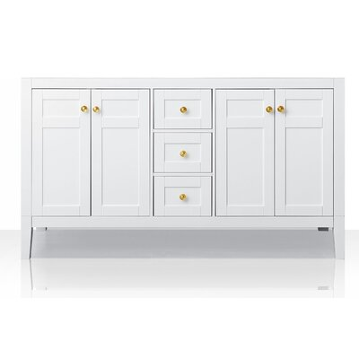 "Maili 59"" Double Bathroom Vanity Base Only Ancerre Designs"