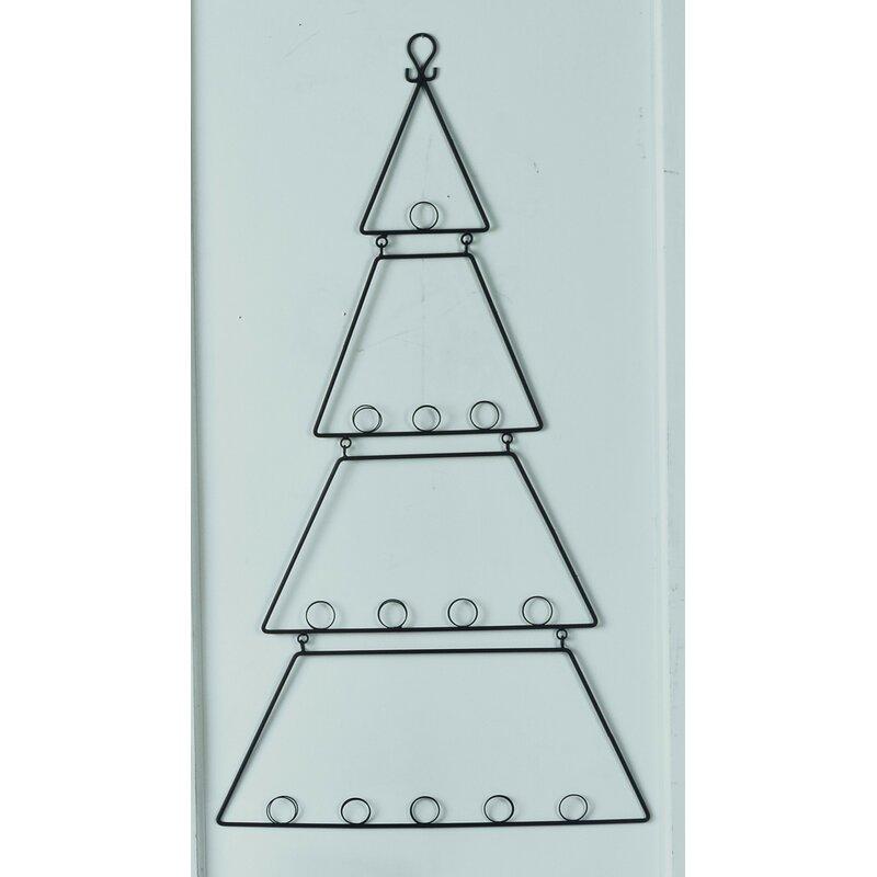 wall hanging metal tree card holder