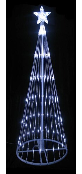 LB International LED Light Show Cone Christmas Tree Lighted Yard Art ...