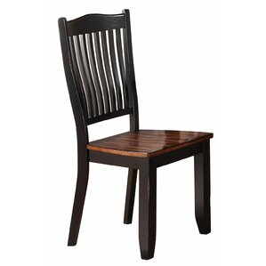 Manassa Solid Wood Dining Chair (Set of 2) by Loon Peak