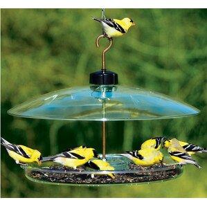 covered platform tray bird feeder