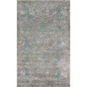 Broadway Hand-Tufted Green Area Rug