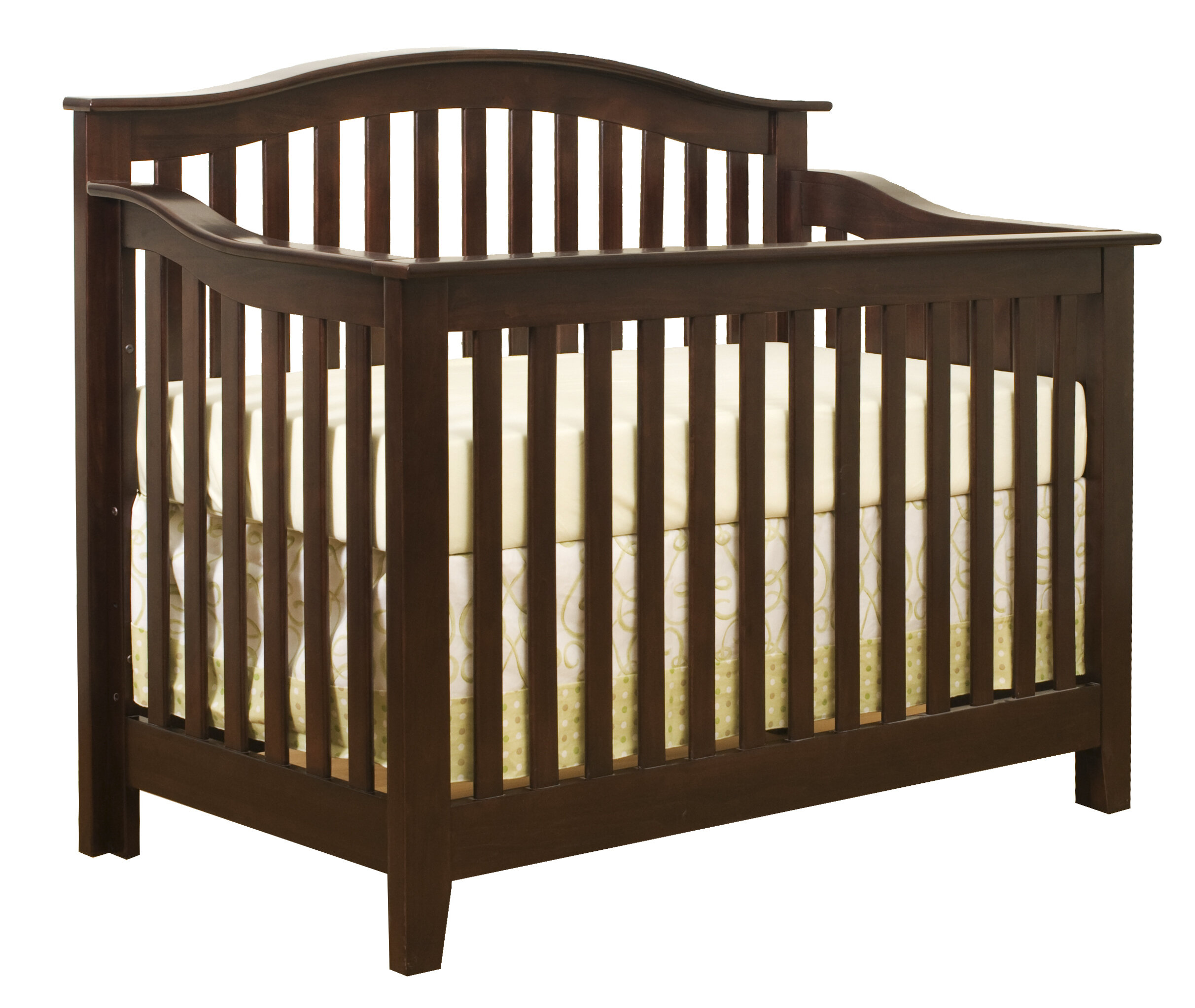 dream collection emily davinci cherry cribs toddler rail magnifier w raw convertible s in crib baby