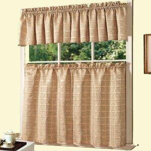 Jeanette 3 Piece Kitchen Curtain Set