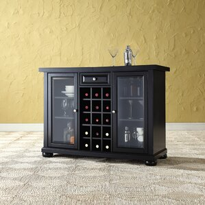 pottstown bar cabinet with wine storage black