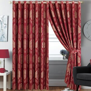 Betty Jacquard Eyelet Panel Curtains Part 65