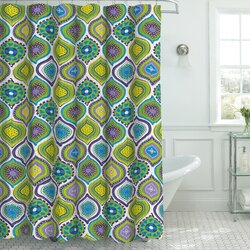 Frequently Bought TogetherBungalow Rose Zemamra Fabric Weave Textured Shower Curtain Set  . Yellow And Teal Shower Curtain. Home Design Ideas