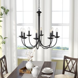 O123770Oil Rubbed Bronze QUICK VIEW Shaylee 8 Light Candle Style Chandelier